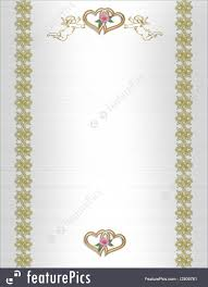 Illustration Of Wedding Invitation Angels And Hearts
