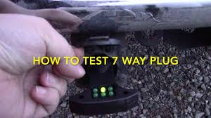 how to test 7 way trailer rv electrical plug how to test 7 way trailer rv electrical plug