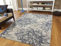 luxury gray area rugs 8x10 chrysanthemum flower carpet 5x8 modern rug gray 8x11