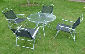ikea outdoor dining set glass top table with folding chairs patio