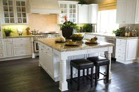 White Kitchen Cabinets With Dark Floors Antique White Kitchen