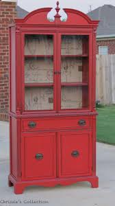 yea original kitchen hutch red china cabinet by chrissies collection painted in general finishes