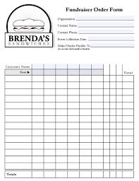 Fundraiser Form Templates Fundraiser Order Form Templates Word Excel Pdf Formats
