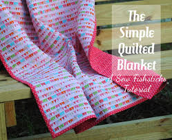 The Simple Quilted Blanket ~ A Tutorial &  Adamdwight.com