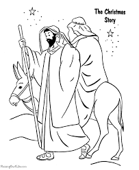 Christian Coloring Pages The Christmas Story Kidkraft