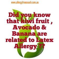 Did you know that kiwi fruit, Avocado & Banana are related to Latex ...