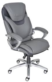 com serta works executive office chair with air technology bonded leather gray kitchen dining