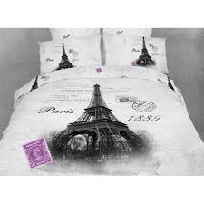 duvet cover set twin size 4 piece novelty bedding by dolce mela eiffel