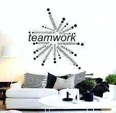 wall decal for office vinyl wall decal teamwork words office decor business  stickers vinyl wall decal