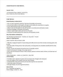 Waitress Resume Extraordinary 28 Waitress Resume Templates Free Sample Example Format Download