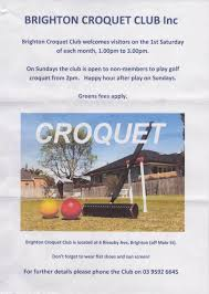 Example Of Flyers Example Flyers From Clubs In Croquet Victoria