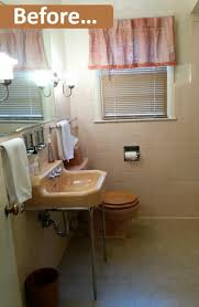 whether to paint or wallpaper laura s 1957 bathroom but here s an idea i forgot to mention and which several readers suggested stenciling the walls