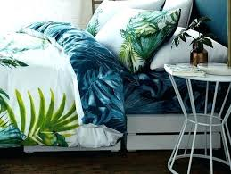 contemporary tropical luxury bedding tropical leaf bedding luxury reversible duvet cover set green bedspread luxury tropical