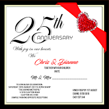 entry 14 for 25th wedding anniversary invitation