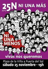 Resultat d'imatges de ni una menos manifestacion 25 noviembre 2017