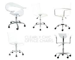 clear office chairs. Clear Acrylic Office Chair Clearly Chic 5 Desk Chairs For Small . F