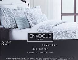 com envogue bohemian paisley 3pc duvet cover set vintage moroccan scroll medallion muted colors gray dusty blue grey silver damask bedding queen
