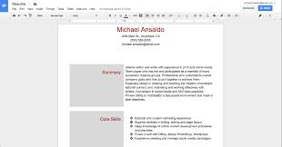 Resume On Google Docs Create Resume Google Docs Therpgmovie 18