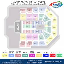 Citizens Bank Arena Seating Chart Banda Ms Concert Citizens Bank Arena 2018