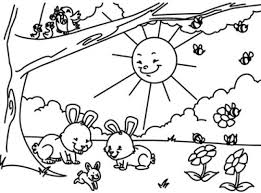 Spring Season 198 Nature Printable Coloring Pages