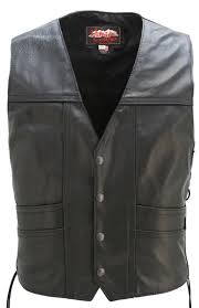 full back cruiser motorcycle leather vest tap to expand