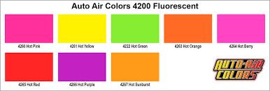Yellow Car Paint Chart 4260 Fluorescent Hot Pink Auto Air Fluorescent Colors