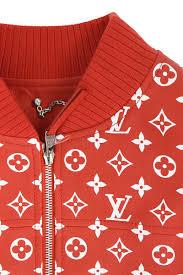 シュプリーム supreme x louis vuitton x louis vuitton monogram bonn bar jacket 46 red x white bb07 rinkan s