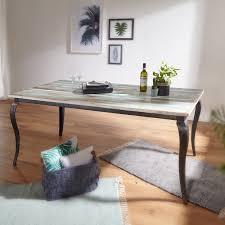 Esstisch Lina Massivholz Shabby Chic 180x77x90 Cm Esszimmertisch Modern Design Küchentisch Massiv Groß Massivholztisch Esszimmer Vintage Tisch