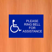disabled ring bell for istance sign