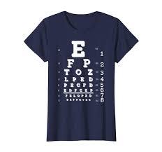 Amazon Com Funny Prank Blurry Eye Chart Exam T Shirt Clothing