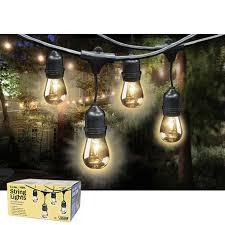 best ideas about weatherproof sockets outdoor feit outdoor weatherproof string light set black 48 ft 24 light sockets