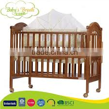 wbc 50 luxury solid nz pine wooden folding baby bed crib with swing cradle
