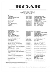 Aaron Douglas Acting Resume
