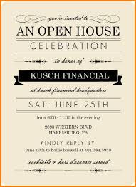 Open House Invite Templates Template Business