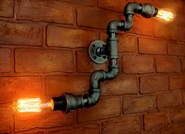 unique plumbing pipe light fixture