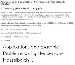 Henderson Hasselbalch Applications And Examples Of The Henderson Hasselbalch