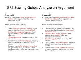 presentation argumentative essay 4 gre scoring guide analyze an argument
