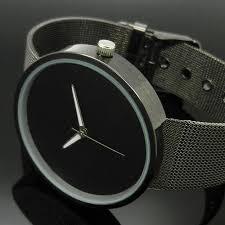 black metal iron net mesh band quartz wrist watch mens womens does not apply