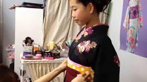 小学生卒業式袴の着付け髪型の作り方 Youtube