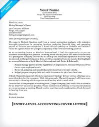Accounting Cover Letter Sample Kizi Spiele
