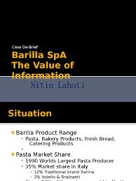 barilla spa case solution inventory retail barilla case report and solution
