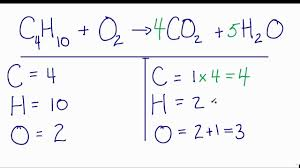 how to balance c4h10 o2 co2 h2o ne combustion reaction you