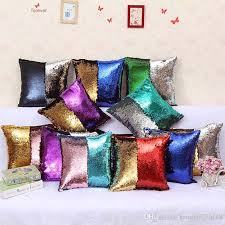 Small Picture Two Tone Sequin Cushion Home Decor Colorful Cushion Cover Throw