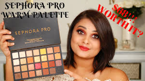 new sephora pro warm eyeshadow palette review swatches