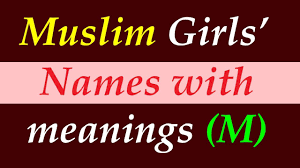 Baby Name Chart 2014 Modern Muslim Girls Name With Meaning Starting With M Islamic And Arabic Names