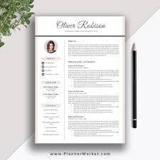 Creative Resume Cover Letter Professional Resume Template CV Template 24 Page Creative Resume 8