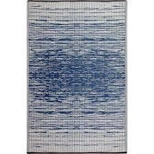 brooklyn blue indoor outdoor 8 ft x 10 ft area rug