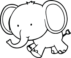 free coloring pages animals elephants elephant color page cute small sheets of