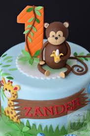Jungle Themed 1st Birthday Cake Decorating Cakes Birthday Cake