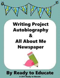 Writing An Autobiography - Template, Mini-Lesson, Brainstorm, Warm ...